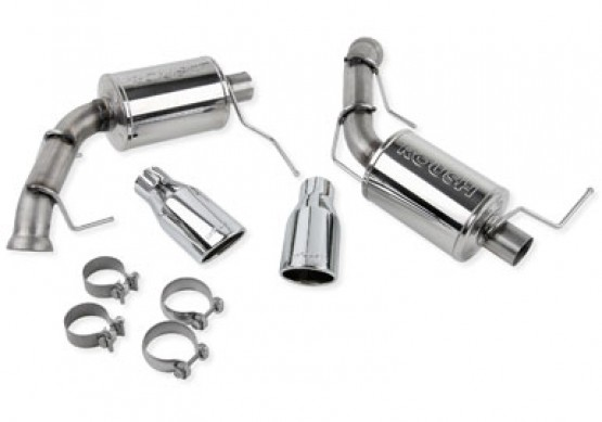 V6 Mustang Exhaust Kit with Round Tips (2011-2014)