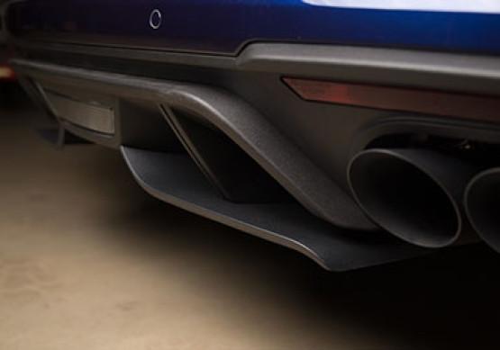 18 ROUSH Mustang GT Rear Valance Aero Foil Installed