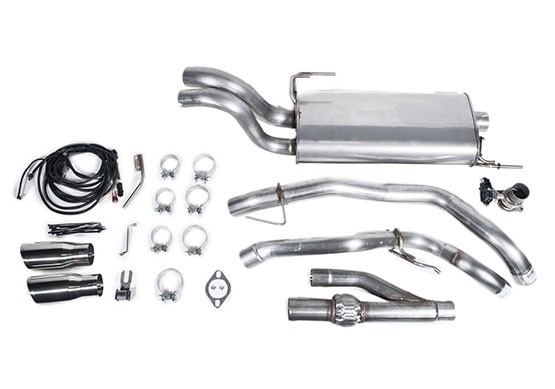 15-18 ROUSH F-150 Active Cat-Back Exhaust Kit Components