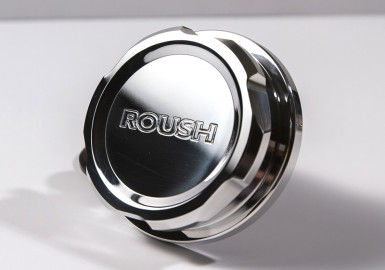 Billet Radiator Cap -- Polished -- 1996-2018 Mustang