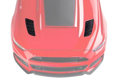 2015-2017 Mustang ROUSH Heat Extractors - Molded Black