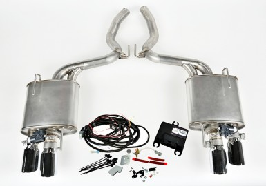 2015-2017 Mustang 5.0L V8 ROUSH Quad Tip Active Exhaust Kit