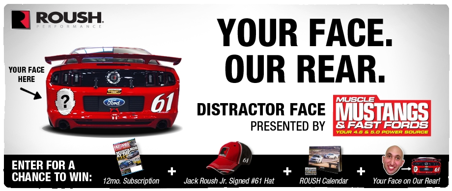 Distractor Face Teams with Muscle Mustang and Fast Fords