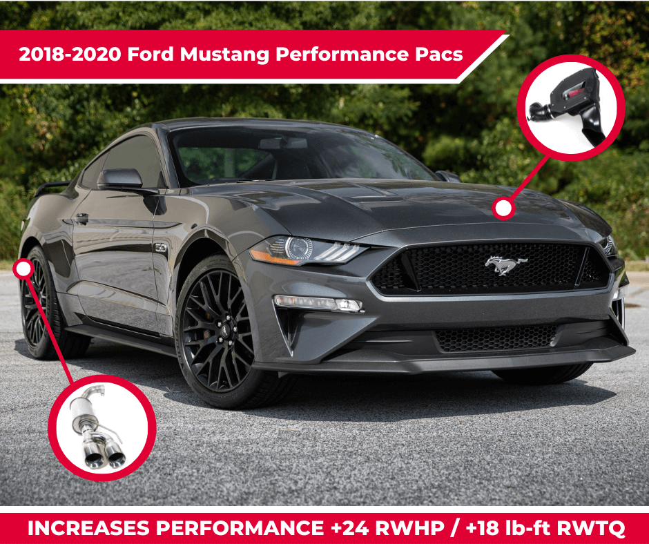 Increase your 2018-2020 Ford Mustang's performance with a ROUSH Performance Pac!